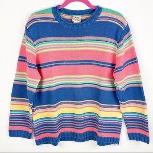 Koret City Blues Vintage Striped Crew Neck Sweater
